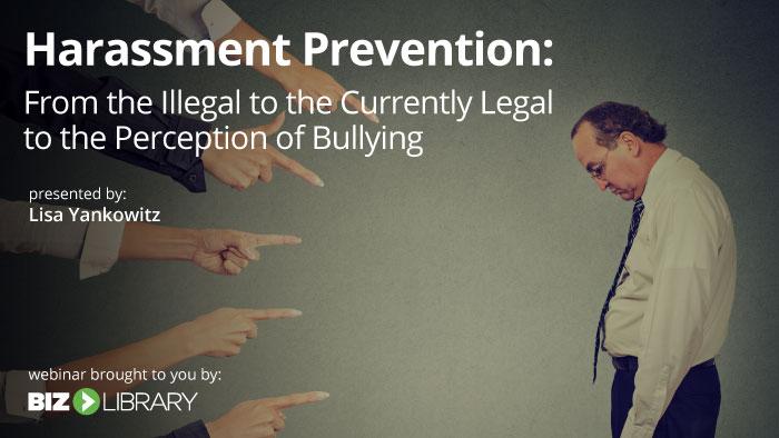 harassment prevention webinar