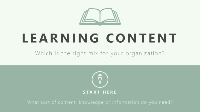 Learning Content: Which Mix is Right for Your Organization?