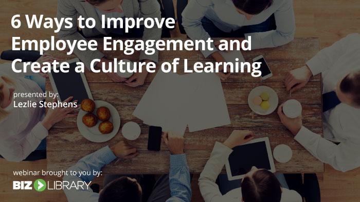 Employee Engagement webinar cover