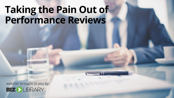 Taking the Pain Out of Performance Reviews webinar cover
