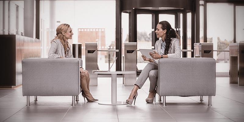 Conversation skills between colleagues image