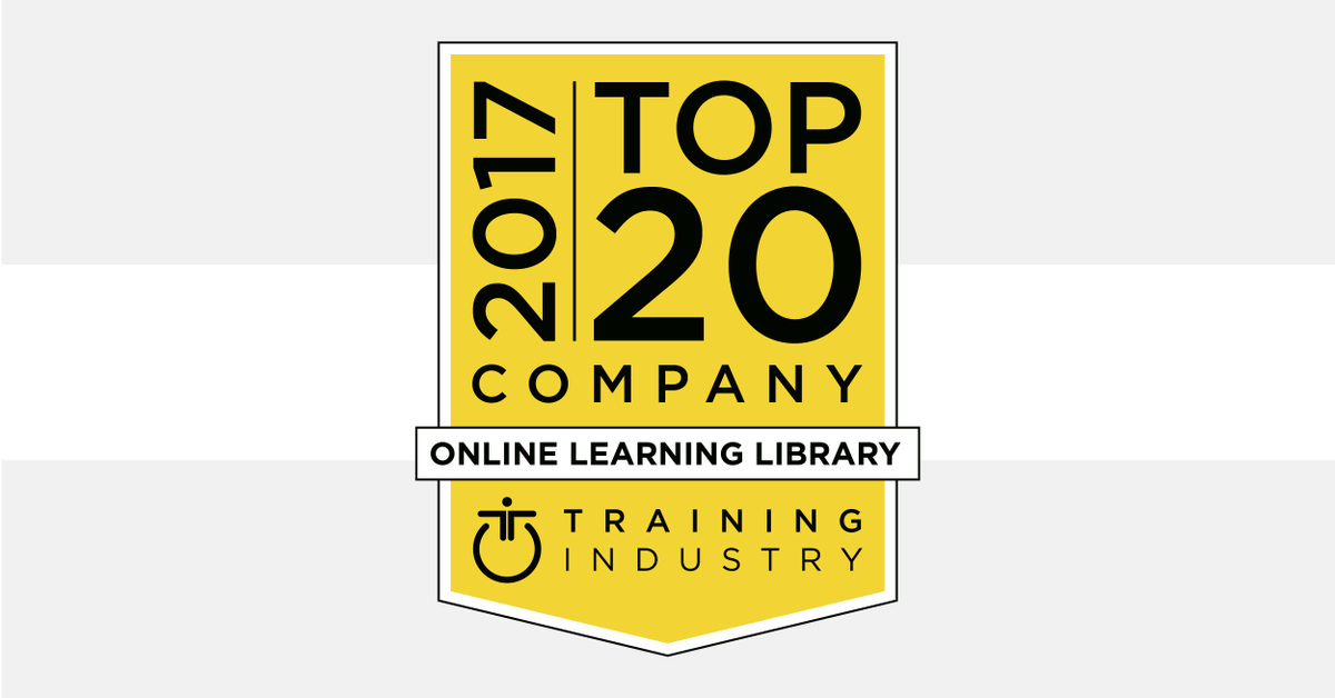 Training Industry Top 20 Online Learning Library logo