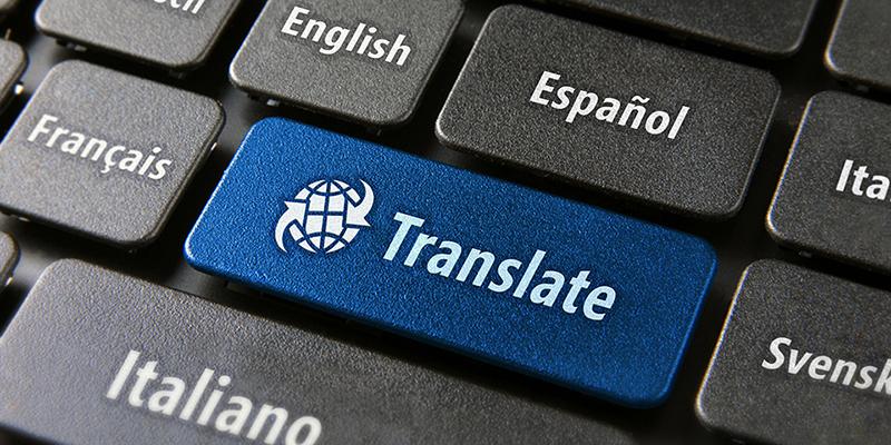 Language policy at work - translation keyboard