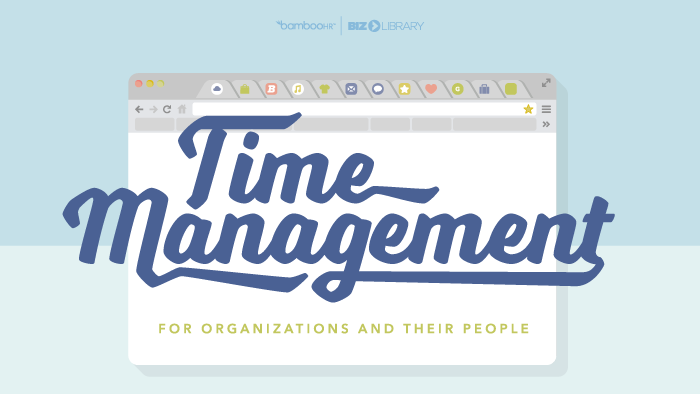 Time Management for Organizations and Their People