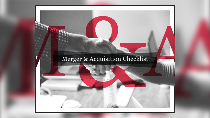 Merger & Acquisition Checklist