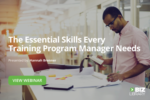 employee training program manager skills webinar