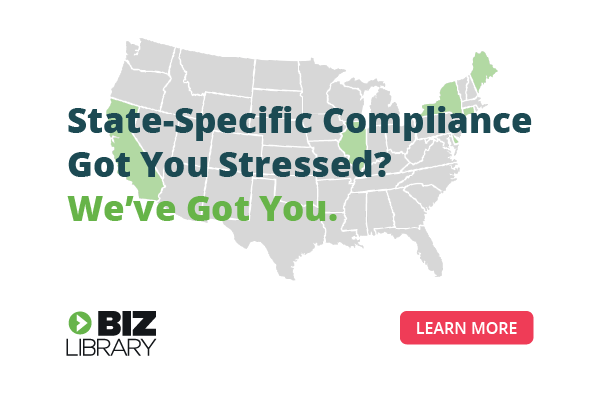 BizLibrary's state-specific anti-harassment compliance training
