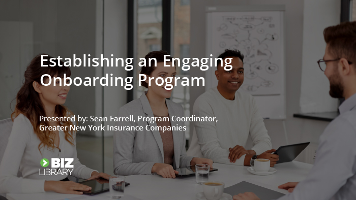 Establishing an Engaging Onboarding Program