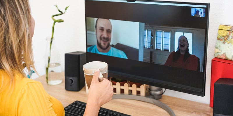 Virtual coffee with team members