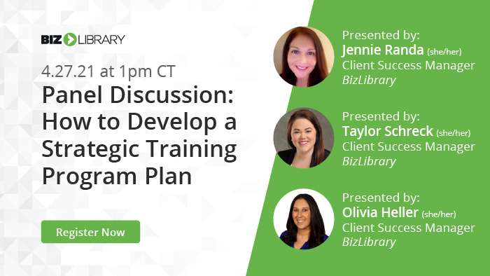Panel Discussion: How to Develop a Strategic Training Program Plan