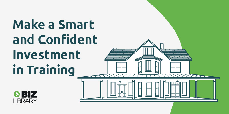 illustration of a house representing making a smart and confident investment in training